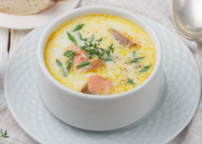 Fish soup with Winter vegetables